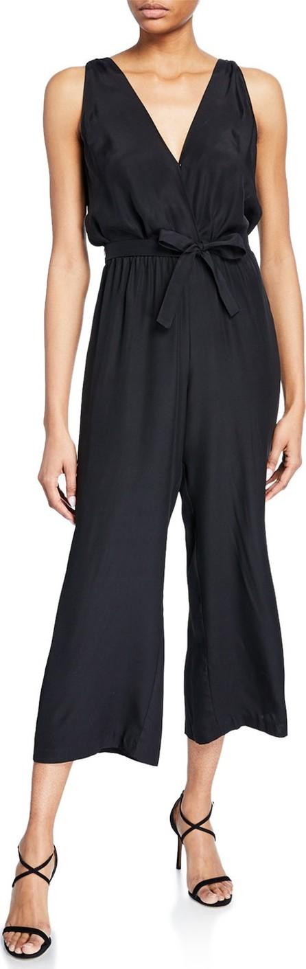 Amanda Uprichard Gunnar Sleeveless Cropped Silk Jumpsuit