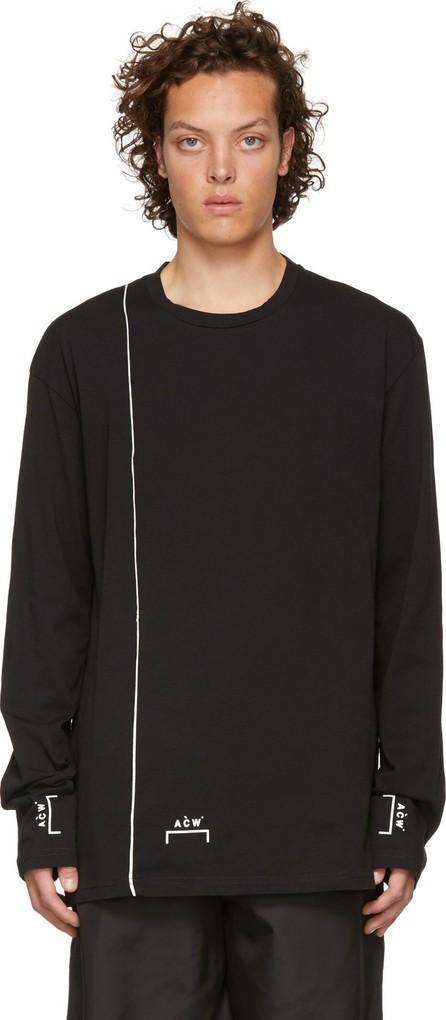 A-Cold-Wall* Black Bracket Piping T-Shirt