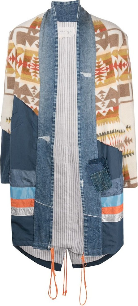 Greg Lauren Panelled oversized-fit coat