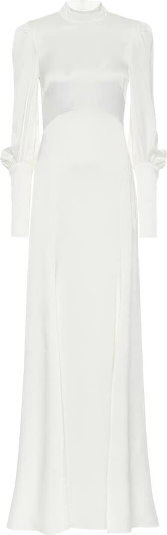 Temperley London Eleanor crêpe-satin bridal gown