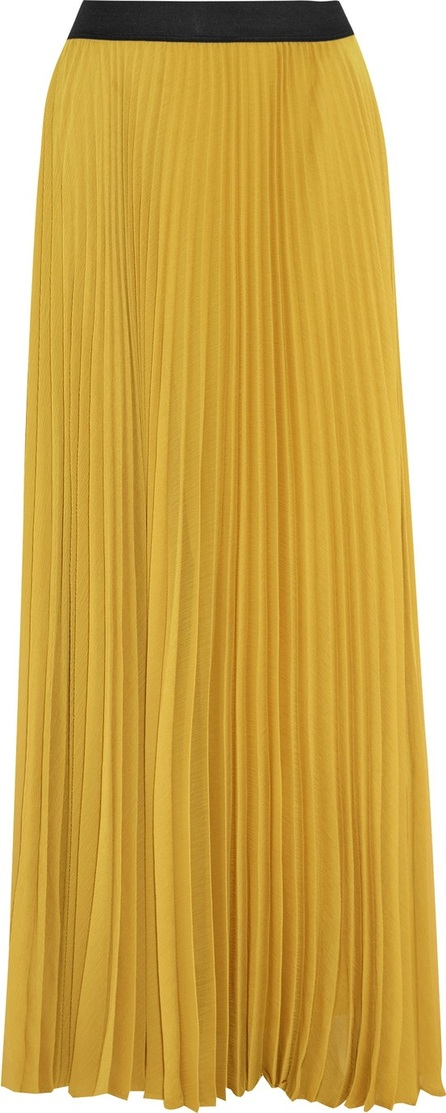 ENZA COSTA Pleated chiffon maxi skirt