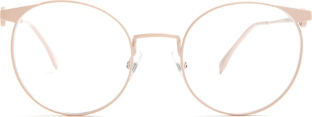 Fendi Round-frame metal glasses