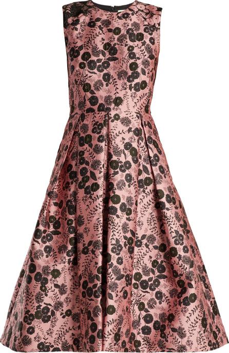 Erdem Indra floral-jacquard dress