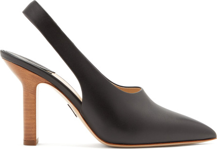 Paul Andrew Stella point-toe slingback leather pumps