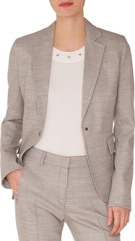 Akris Punto Press-Button Flap-Pockets Stretch-Wool Blazer