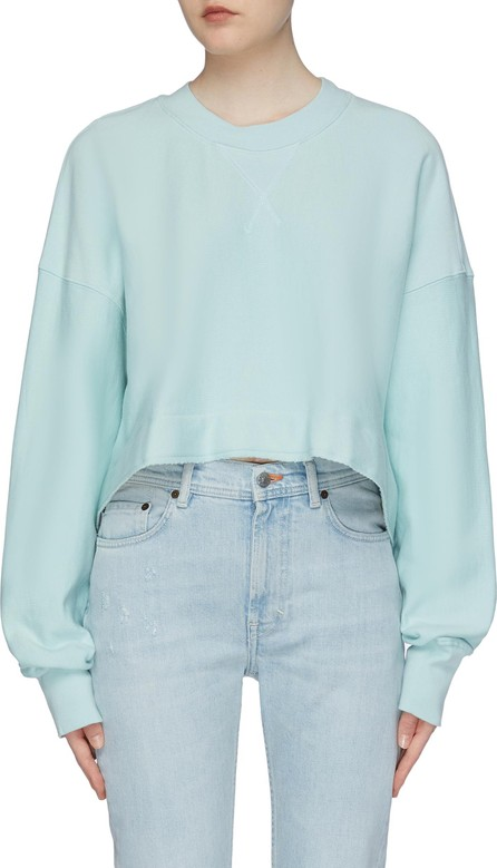Bassike Raw hem cropped sweatshirt