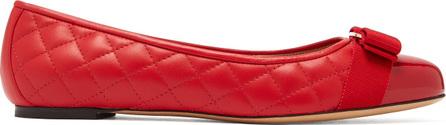 Salvatore Ferragamo Varina quilted-leather ballet flats