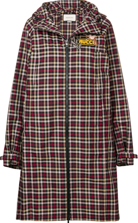 Gucci Embellished plaid coat