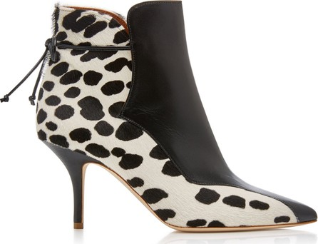 Malone Souliers by Roy Luwolt Jordan Leather-Paneled Calf-Hair Ankle Boots
