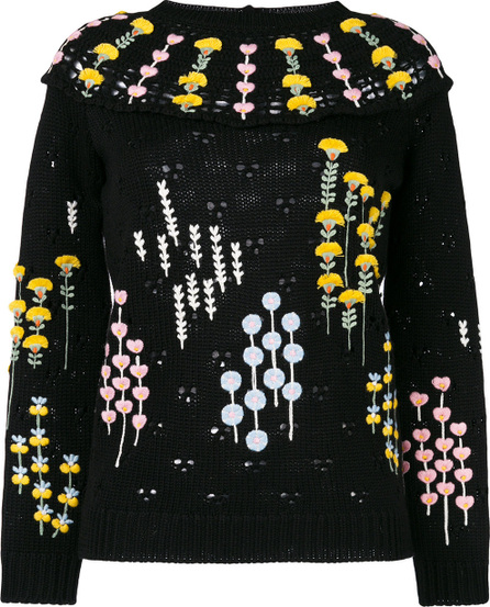 Valentino Popflowers embroidered sweater