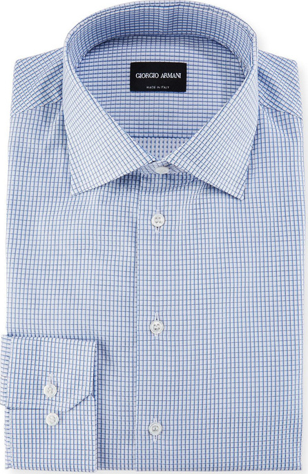 Giorgio Armani Micro-Graph Cotton Dress Shirt