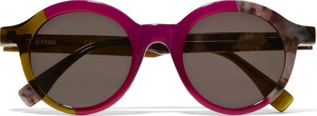Fendi Round-frame acetate sunglasses