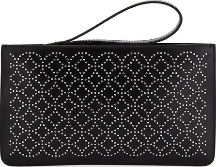 Alaïa Arabesque Studded Zip-Top Pouch