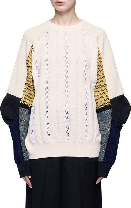Toga Colourblock panel perforated sweater