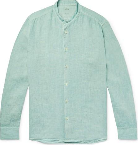 Altea Brent Grandad-Collar Garment-Dyed Linen Shirt