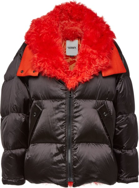Army By Yves Salomon Quilted Down Jacket with Lambskin and Shearling