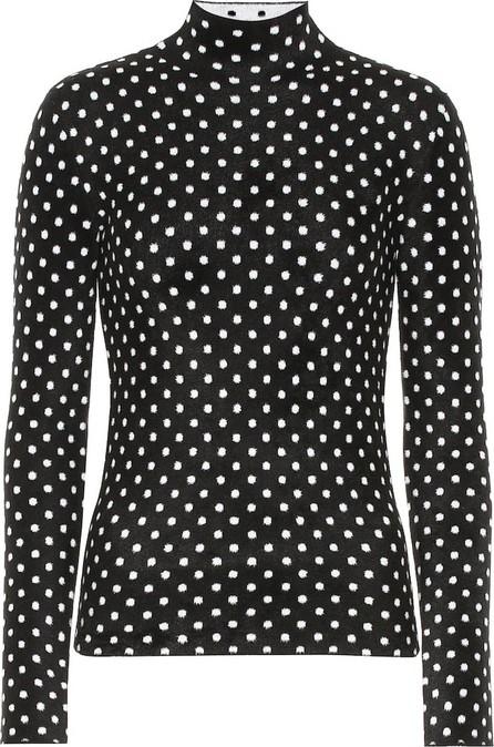 Balenciaga Polka-dot high-neck sweater