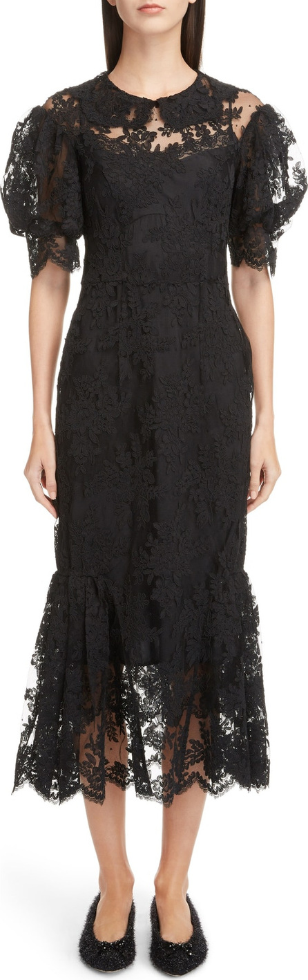 Simone Rocha Corded Lace Dress