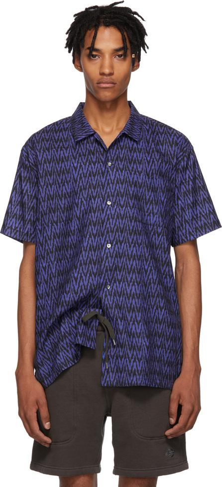 Double Rainbouu Navy & Black Sitar Noir Hawaiian Shirt