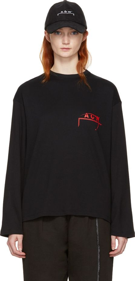 A-Cold-Wall* SSENSE Exclusive Black Long Sleeve Logo T-Shirt