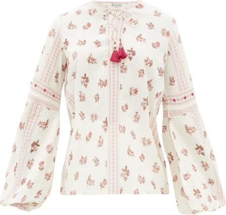 D'Ascoli Montauk floral-print cotton top
