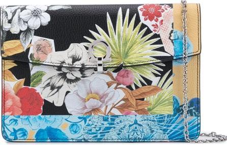 Salvatore Ferragamo Floral collage pattern shoulder bag