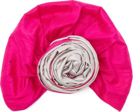 Julia Clancey Bi-colour silk turban hat