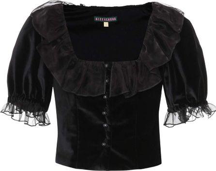 Alexachung Cropped velvet top