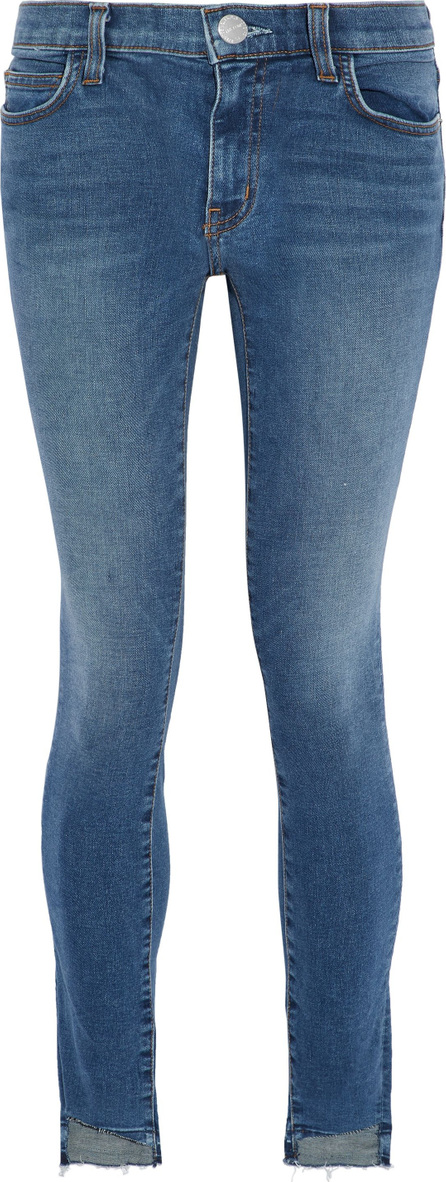 Current/Elliott The High Waist faded low-rise skinny jeans