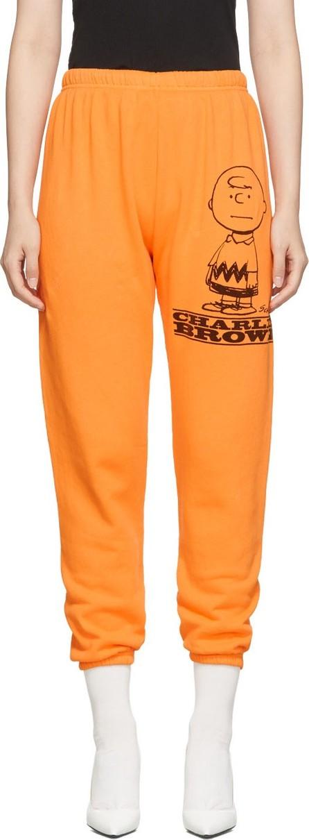 MARC JACOBS Orange Peanuts Edition 'The Gym' Charlie Lounge Pants