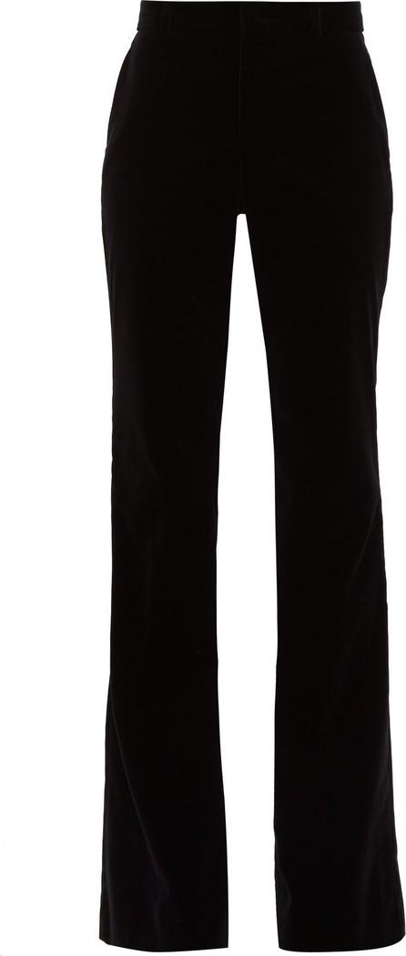 Gucci Flared velvet cotton-blend trousers