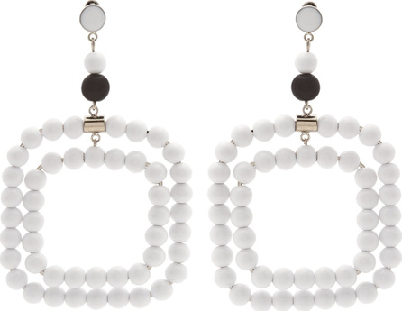 Marni Beaded square-hoop earrings