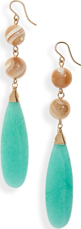 Beck Jewels Jade Shoulder Duster Earrings