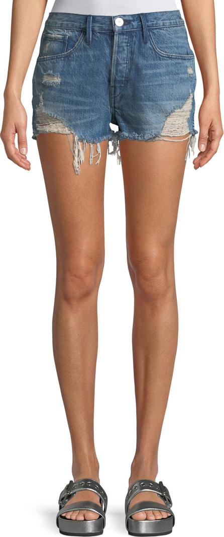 3X1 W4 Carter Distressed Denim Cutoff Shorts