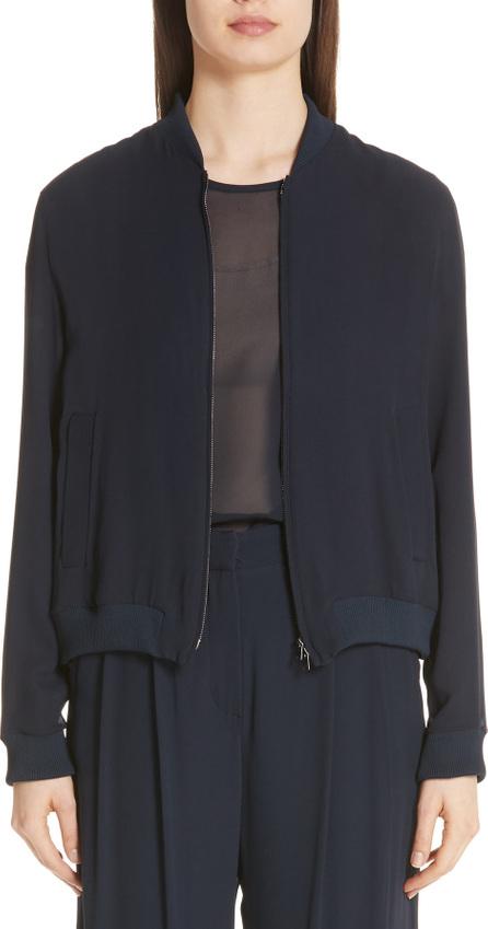 Max Mara Nervi Silk Georgette Bomber Jacket
