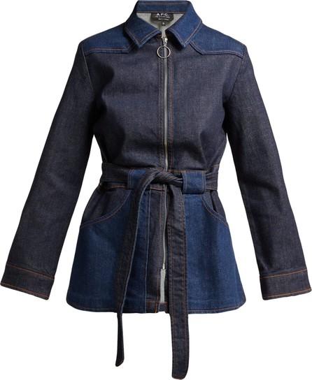 A.P.C. Belted denim jacket