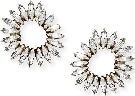 Auden Vivian Clear Crystal Hoop Earrings