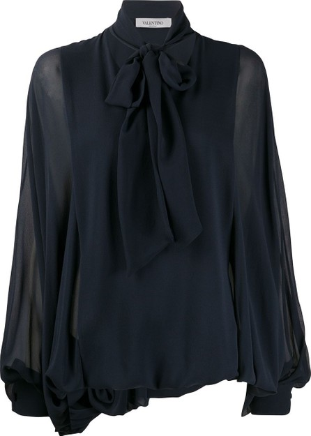 Valentino Pussybow pouf sleeve blouse