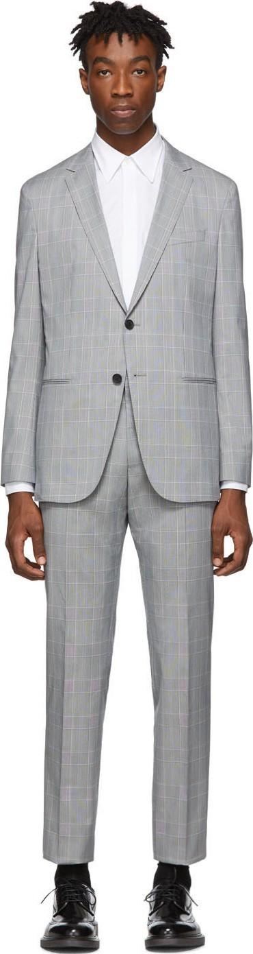 BOSS Hugo Boss Grey Nolin Pirko Suit