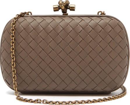 Bottega Veneta Knot Intrecciato-leather clutch