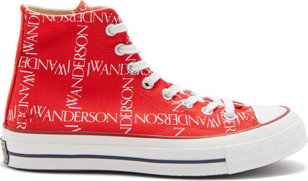 Converse x JW Anderson Chuck 70 logo-print high-top canvas trainers