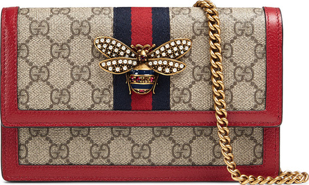 Gucci Queen Margaret GG Supreme Wallet On Chain
