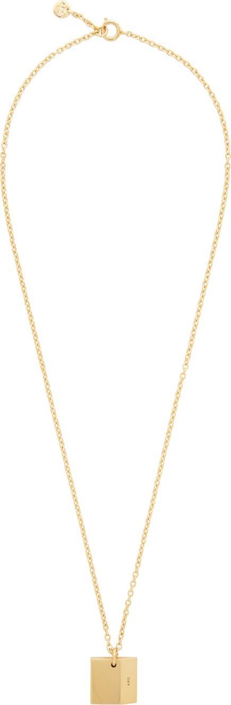 A.P.C. Gold Nolan Necklace