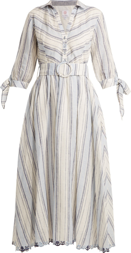 Gül Hürgel Striped linen dress