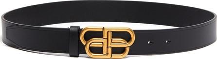 Balenciaga BB logo buckle leather belt
