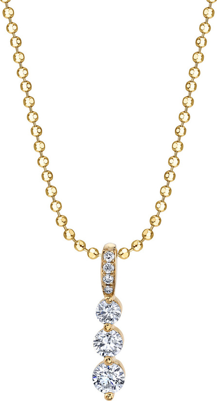 Anita Ko 18k Gold Small Diamond Twiggy Necklace
