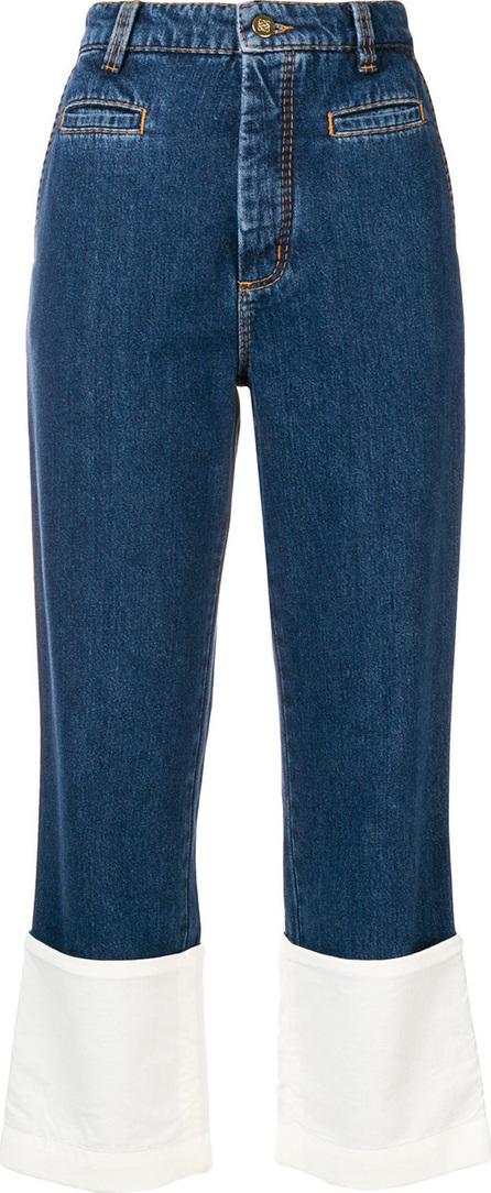 LOEWE Contrast cuff fisherman jeans