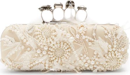 Alexander McQueen Faux-pearl knuckle box clutch