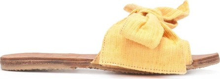 Brother Vellies Yellow denim Burkina sandal