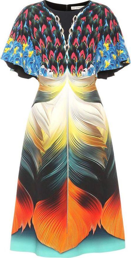Mary Katrantzou Osmond printed crêpe dress